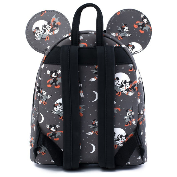 Disney Mickey and Minnie Halloween Allover Print Mini Backpack