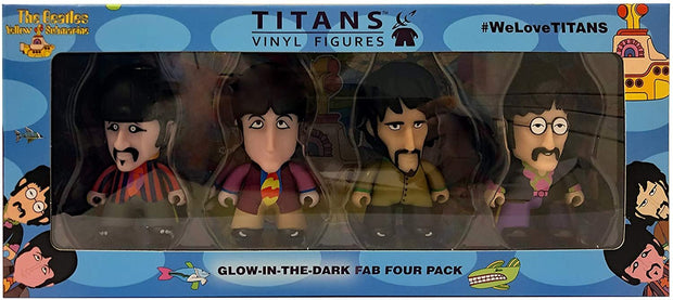 "The Beatles TITANS: 3"" Glow-in-the-Dark - 4-Pack"