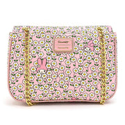 Loungefly x Sanrio My Melody Flower Field Patterned Crossbody Purse - BACK