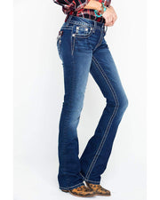 Aztec Inspired Embellished Bootcut Jeans