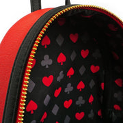 LOUNGEFLY X DISNEY QUEEN OF HEARTS COSPLAY MINI BACKPACK - INSIDE PRINT