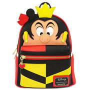 LOUNGEFLY X DISNEY QUEEN OF HEARTS COSPLAY MINI BACKPACK - FRONT
