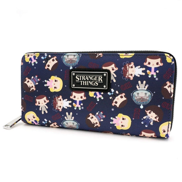 Loungefly x Stranger Things Eleven All-Over Print Zip-Around Wallet - SIDE