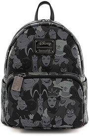 Disney Villains Debossed Allover Print Mini Backpack