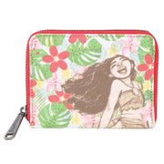 Loungefly Moana Canvas and Burlap Mini Wallet - FRONT