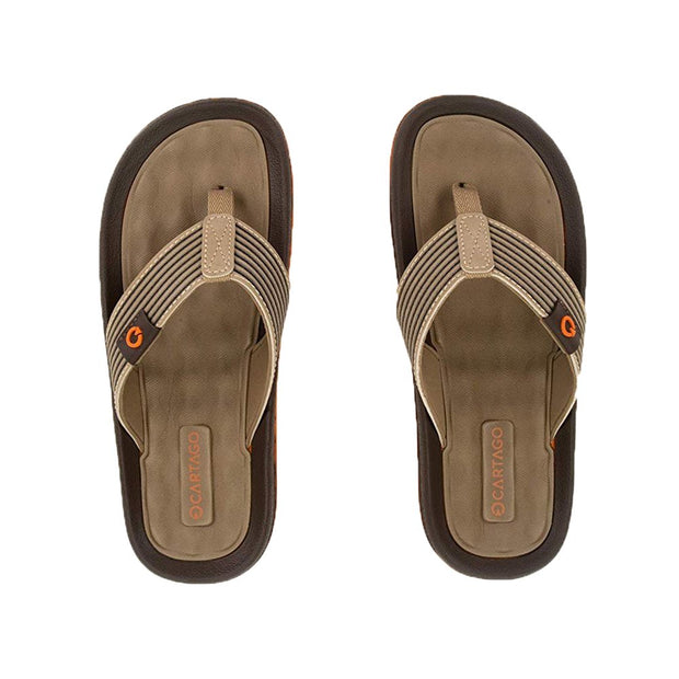 Cartago Dunas VI Men's Sandals Conforming EVA Insole - ORANGE BROWN TOP