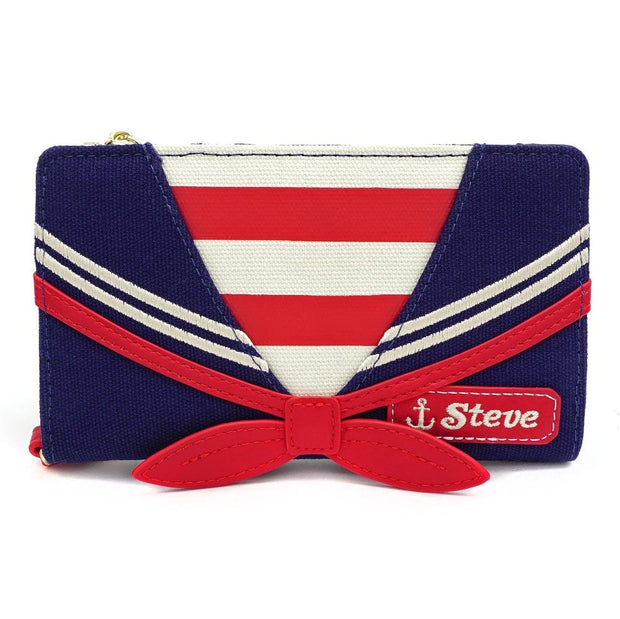 LOUNGEFLY X STRANGER THINGS SCOOPS AHOY COSPLAY CANVAS WALLET - FRONT