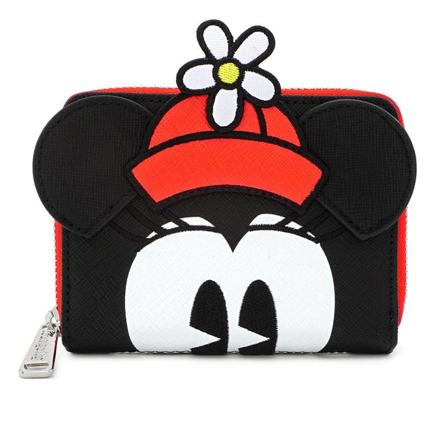 LOUNGEFLY X DISNEY POSITIVELY MINNIE POLKA DOT ZIP AROUND WALLET - FRONT