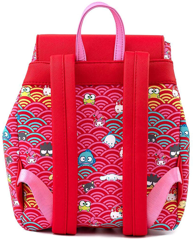 Sanrio 60th Anniversary Gold Bow Allover Print Mini Backpack