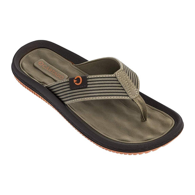 Cartago Dunas VI Men's Sandals Conforming EVA Insole - ORANGE BROWN FRONT