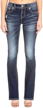 Embellished Angel Wing Bootcut Jeans