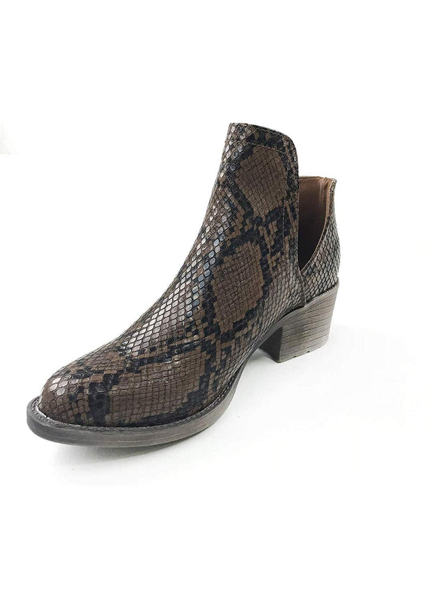 Chronicle Snake Open Side Bootie