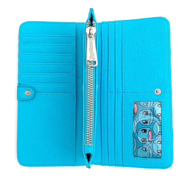 Loungefly x Pokemon Squirtle Faces Faux-Leather Flap Wallet - INSIDE