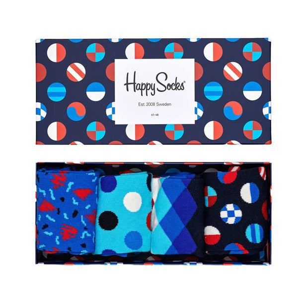 Navy Socks Gift Box - 4-Pack