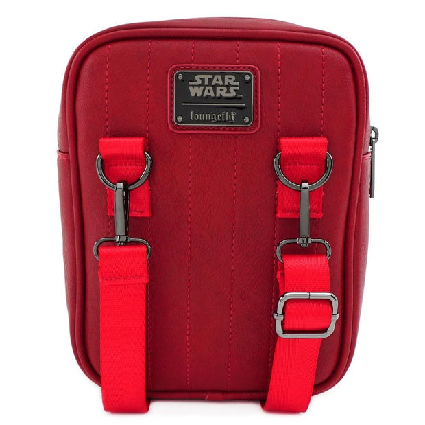 LOUNGEFLY X STAR WARS RED SITH TROOPER CROSSBODY BAG - BACK