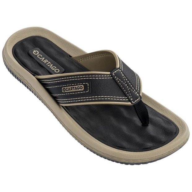 CARTAGO DUNAS II MEN'S SANDALS - BLACK BEIGE FRONT