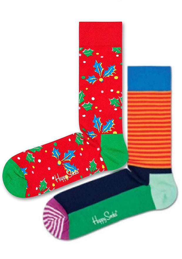 Psychedelic Holiday Socks 2 Pack Christmas Cracker