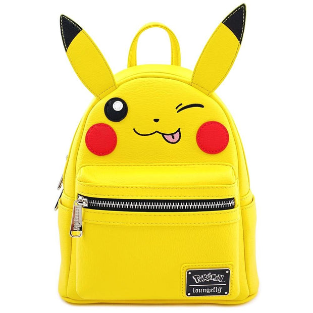 LOUNGEFLY X POKEMON PIKACHU WINK COSPLAY MINI BACKPACK - FRONT
