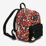 Loungefly x Mickey Mouse Plaid Mini Backpack - SIDE