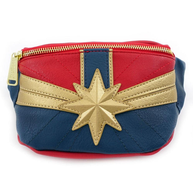 LOUNGEFLY X CAPTAIN MARVEL FANNY PACK - FRONT