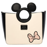 LOUNGEFLY X MINNIE WITH DIE-CUT MICKEY HANDLE TOTE BAG - BACK