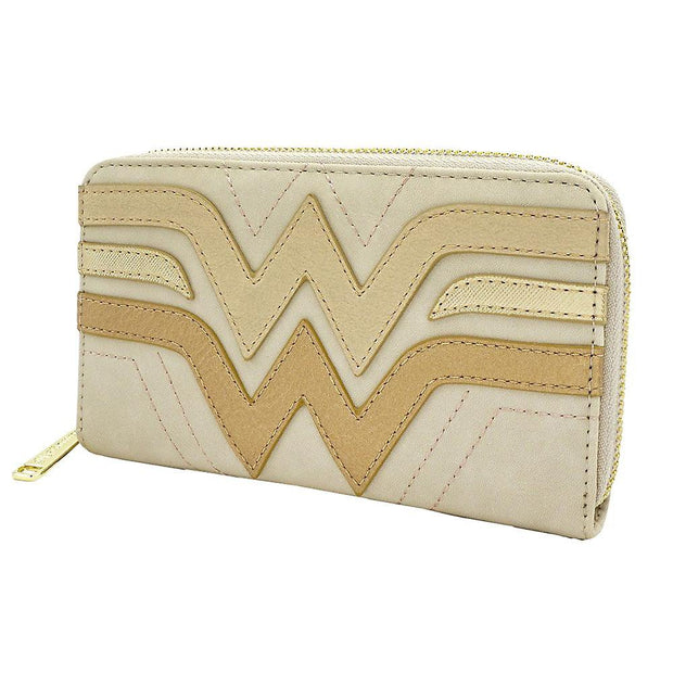 Loungefly x Wonder Woman Gold Logo Small Wallet - SIDE