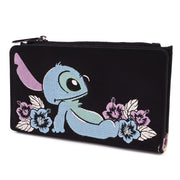 LOUNGEFLY X DISNEY LILO AND STITCH SATIN STITCH WALLET - SIDE