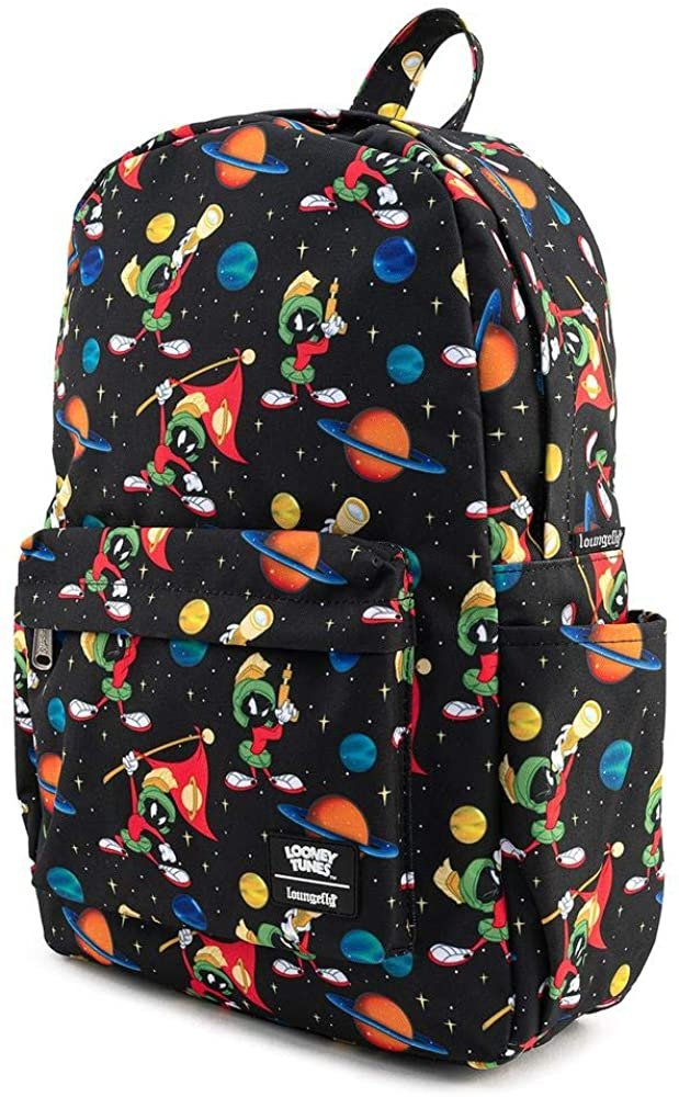 Looney Tunes Marvin the Martian Allover Print Nylon Backpack
