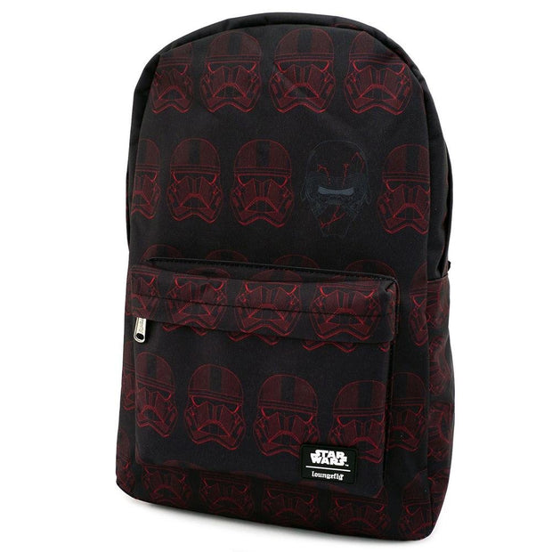 LOUNGEFLY X STAR WARS RED SITH TROOPER NYLON BACKPACK - SIDE