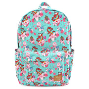 LOUNGEFLY X DISNEY MULAN MUSHU AND CRIKEE FLOWER NYLON AOP BACKPACK - FRONT