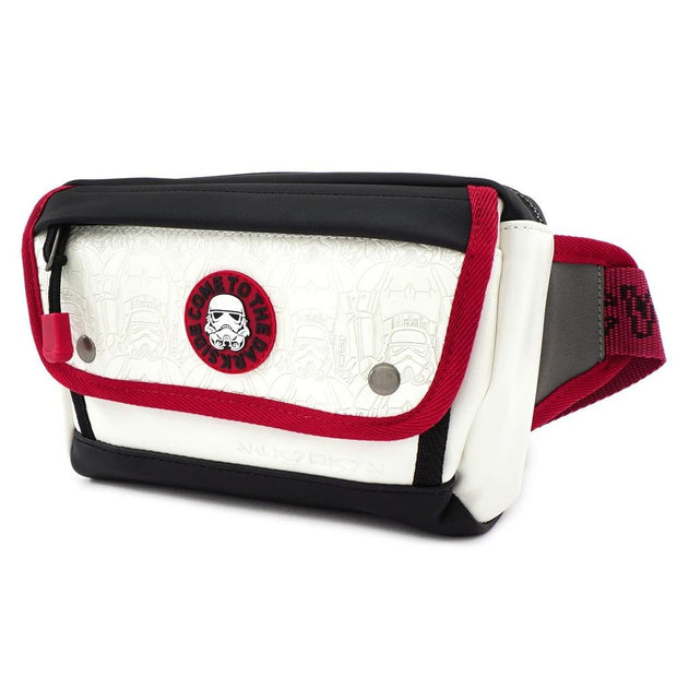 LOUNGEFLY X STAR WARS WHITE TROOPER DEBOSSED FANNY PACK - SIDE