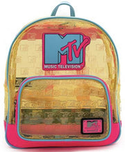 MTV Clear Debossed Logo Mini Backpack