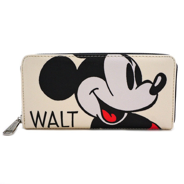 Loungefly x Disney Mickey Mouse Classic Print Zip-Around Wallet - FRONT