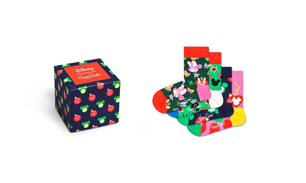 Disney Holiday Kids Socks 4-Pack Gift Box