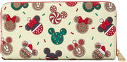 Disney Mickey & Minnie Christmas Cookies Allover Print Wallet