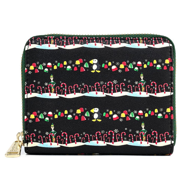 Elf Buddy Candy Cane Forest Allover Print Zip-Around Wallet