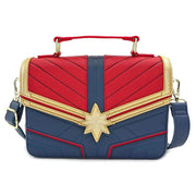 LOUNGEFLY X MARVEL CAPTAIN MARVEL COSPLAY CROSS BODY BAG - FRONT