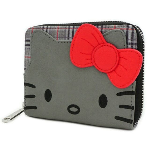 Loungefly x Hello Kitty Faux-Leather Plaid Zip-Around Wallet - SIDE