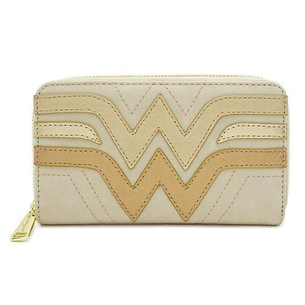 Loungefly x Wonder Woman Gold Logo Small Wallet - FRONT