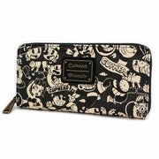 Cuphead Black and White Print Zip Around Wallet