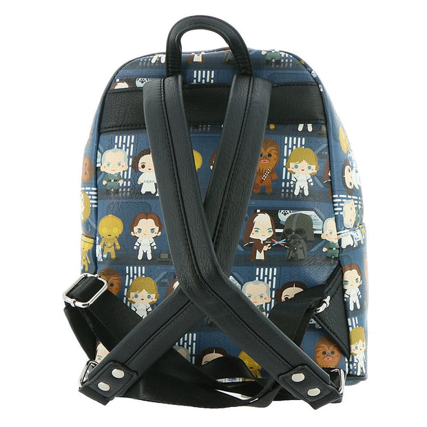 Loungefly x Star Wars A New Hope Chibi Characters Mini Backpack - BACK