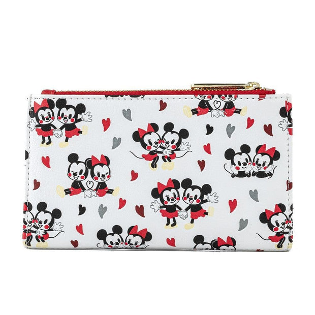 Disney Mickey & Minnie Mouse Love Allover Print Wallet