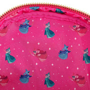 Disney Sleeping Beauty Floral Fairy Godmother Allover Print Mini Backpack - Inside