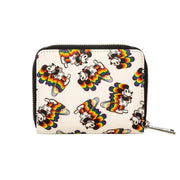 LOUNGEFLY X MICKEY RAINBOW PRINT WALLET - BACK