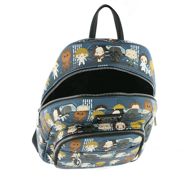 Loungefly x Star Wars A New Hope Chibi Characters Mini Backpack - INSIDE PRINT
