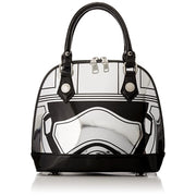 Loungefly Captain Phasma Silver Metallic Embossed Dome Top Handle Bag - FRONT