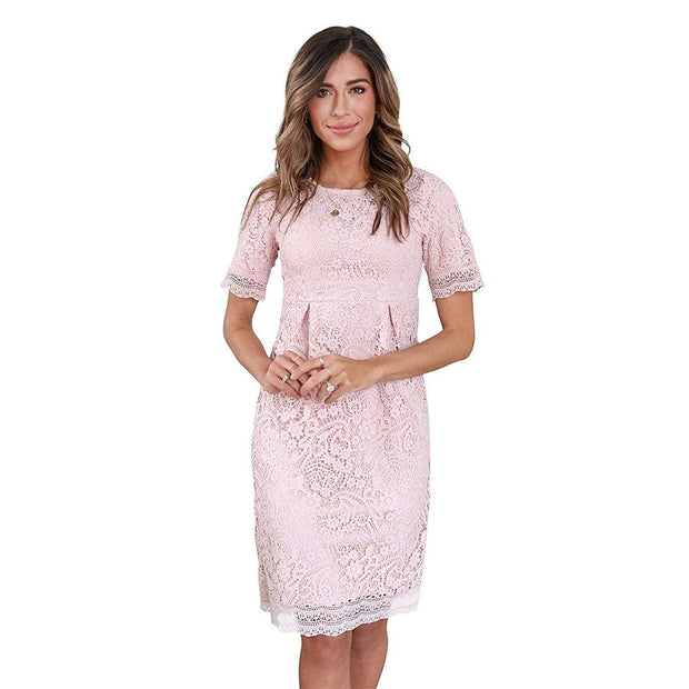 Demi Modest Crochet Lace Dress