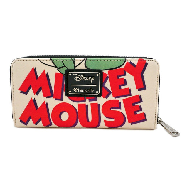 Loungefly x Disney Mickey Mouse Classic Print Zip-Around Wallet - BACK