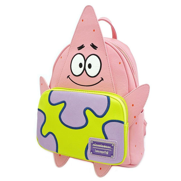 LOUNGEFLY X NICKELODEON PATRICK 20TH ANNIVERSARY COSPLAY MINI BACKPACK - SIDE
