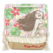 LOUNGEFLY X MOANA FLORAL TOTE BAG - FRONT